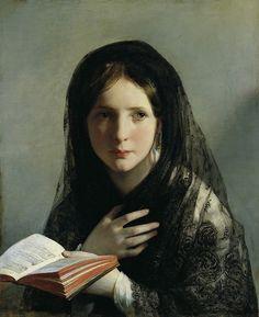 Friedrich Von Amerling - Lost in Her Dreams [1835] | Flickr - Photo Sharing!
