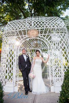 Love this garden wedding photo shoot! Photo by Bleu Studio