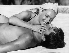 Alain Delon and Romy Schneider in La Piscine directed by Jacques Deray, 1969