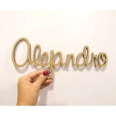 Nombre de madera - 30 cm -... Bathroom Hooks, Personalized Gifts