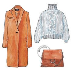 Good objects - Camel, suede & knit #goodobjects #illustration