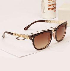 nouvelle marque de luxe des femmes lunettes de soleil cadre brunetaille