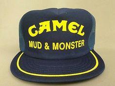 6ebbc9ec7b670 Vntg NOS Trucker Hat Camel Cigarettes Mud  amp  Monster Truck Made In USA  Snapback Men s