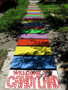 candyland party entrance