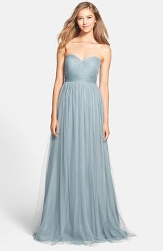 Pretty misty blue bridesmaid dress