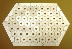 Settlers of Catan basic game board with Frame with Holes and 65 Hexagons