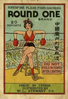 lutsanguisargilla:    retrogasm:    Round One firecrackers    GPOY.   I almost want this framed.    (via glamoramamama75)