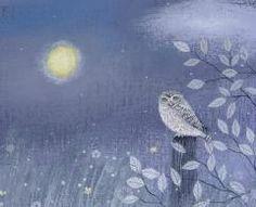 Little Owl & Yellow Moon  Lucy Grossmith