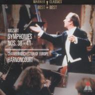 Wolfgang Amadeus Mozart   Nikolaus Harnoncourt   モーツァルト:交響曲第38~41番   アーノンクール(指揮)  「現代のスタンダード」との評価を受ける決定的な名演!  モーツァルト最後期の傑作4曲を収録。『レコード芸術』編「名曲名盤300NEW」にて4曲中2曲が第1位、残りの2曲が第2位にランクされているように、「現代のスタンダード」と世界的な評価を受ける引き締まった名演です。4曲ともアーノンクールにとって2回目の録音であり、第39番から第41番の3曲は1991年ウィーンで催されたモーツァルト没後200周年記念演奏会のライヴ録音です。[録音]1993年[CD1-1]、1991年(ライヴ)[CD1-2/CD2](DIGITAL)