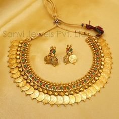 Temple Jewellery Coin Necklace   Rs. 2,000
