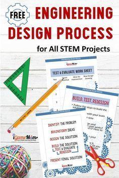engineering design process for kids free handout worksheet design