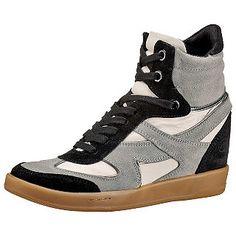 "Comfy Bronx Wedge Sneakers under €30!  8,5cm heel/3"""