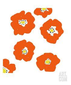 Art.fr - Photographie 'Orange Pop Flowers' par Jan Weiss