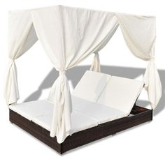 TG-17148  rattan daybed with canopy from trygo furniture