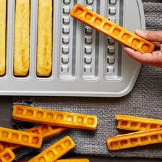 Baked Waffle Sticks - The Pampered Chef® - Food Recipes 😋 Waffle Stick Pan Recipe, Waffle Pan, Waffle Sticks, Waffle Recipes, Donut Recipes, Brunch Recipes, Breakfast Recipes, Breakfast Waffles, Baked Waffle Recipe