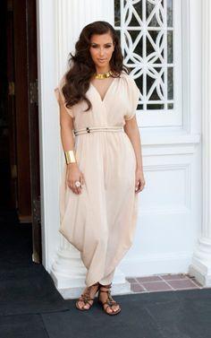 Looking like a Greek goddess