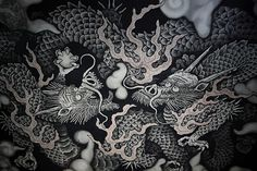 Koizumi Jyunsaku (Japanese-style painter, ca. 1924-2012) / Twin Dragons (Soryu-zu) in Kennin-ji Temple, published 2001