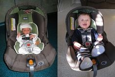 Homecoming anniversary: Take a pic of your baby in infant carrier on day you leave hospital, and exactly one year later.