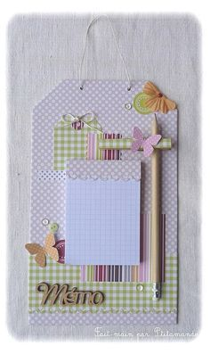 This is cute and using a clothespin for the pencil holder is one of those, 'why didn't I think of that?' ideas.