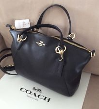 26c19401de Coach Kelsey Pebble Grain Leather Handbag Black MSRP  295