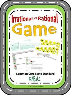 Irrational vs Rational Game - Activity and Assessment - $3.16