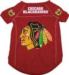 NHL Chicago Blackhawks Pet Jersey, Red, Large
