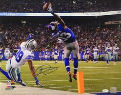 Odell Beckham Jr. Signed Authentic NY Giants The Catch 16x20 Photofile Photo JSA