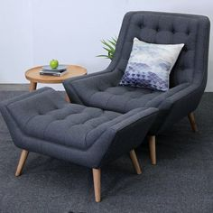 Wooden Armchair Lounge Chaise Design