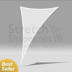 5' x 8' Stretch Triangle 3-Point-Shape-7 White - Instant Dispatch - Stretch Shapes