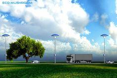 Eco Mushroom : Solar Street Light with Pollution Absorber