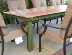 DIY Patio table - TJ you could totally make this