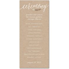 What Do You Include In A Ceremony Program  Ceremony Programs