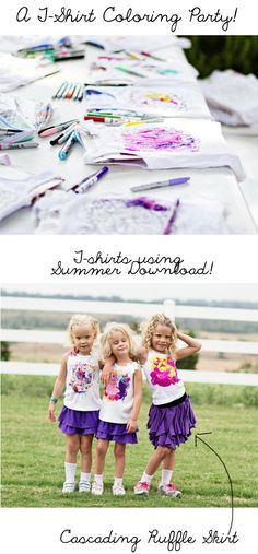 T-shirtcoloringparty- such a cute idea when/if I have a grandbaby girl!