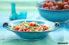 Salata kus kush Serving Bowls, Food Photography, Tableware, Kitchen, Dinnerware, Cooking, Tablewares, Kitchens, Dishes