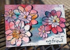 Acrylic Pigment Ink as watercolor? Tami Sanders shares how to get this beautiful artistic effect with Izinks! | Clearsnap Blog http://blog.clearsnap.com/2014/03/watercolor-technique-using-izink-tami-sanders/