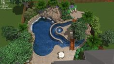 Beautiful Backyards With Pools 75 - decoratoo Natural Swimming Pools, Swimming Pools Backyard, Swimming Pool Designs, Pool Landscaping, Indoor Pools, Modern Landscaping, Backyard Lazy River, Lazy River Pool, Pool Water Features