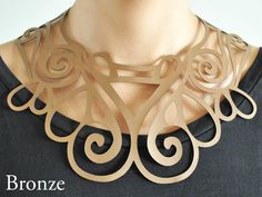 Laser cut leather necklace