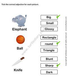 math worksheet : describing words worksheet 14  esl efl worksheets  kindergarten  : Grammar Worksheets For Kindergarten