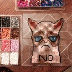 Grumpy Cat perler beads by plurmadness   CATS   Pinterest