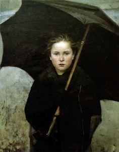 Umbrella      by Marie Bashkirtseff (1883)