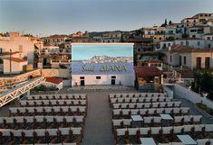 Σινε Διάνα Πόρος Open Cinema, Places Around The World, Around The Worlds, Magic Plus, Outdoor Cinema, Local Parks, Movie Theater, Summer Nights, Athens