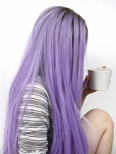 Long Brown Root Lavender Purple Ombre Synthetic Lace Front Wig - hair and beauty - Hair and Beauty Purple Ombre, Pastel Purple Hair, Light Purple Hair, Lilac Hair, Hair Color Purple, Hair Dye Colors, Cool Hair Color, Ombre Brown, Violet Hair