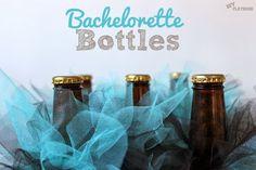 "Bachelorette Bottles. Make mini ""tutus"" for the beer bottles at the bachelorette party!"
