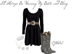 """Boots & Bling!"" by cj98girl on Polyvore"