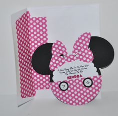 Minnie Mouse Baby Shower Invitation with deep purple too....  Cute invites.  ????