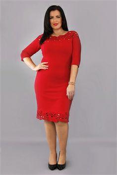 Signature super-soft stretch jersey fabric dress in red