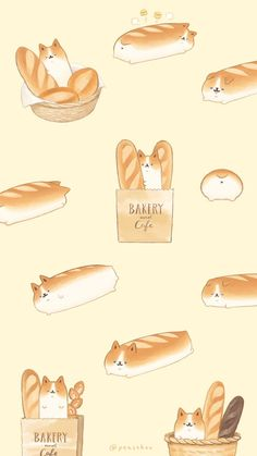 Cute Food Wallpaper, Soft Wallpaper, Kawaii Wallpaper, Cute Food Drawings, Cute Animal Drawings Kawaii, Kawaii Art, Cute Wallpaper Backgrounds, Wallpaper Iphone Cute, Aesthetic Iphone Wallpaper