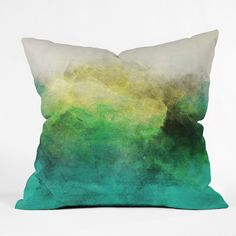 Allyson Johnson Peacock Ombre Throw Pillow | DENY Designs Home Accessories