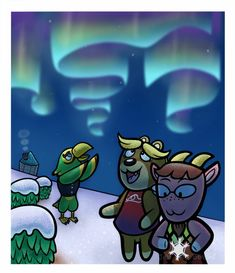 I always loved when the Aurora Borealis appeared in Animal Crossing since I have never seen them in real life. They are just so pretty in the game.