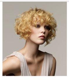 Saffron short curls